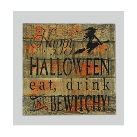 Weathered Orange Happy Halloween Sign