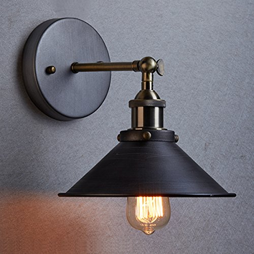 CLAXY Ecopower Industrial Edison Simplicity 1 Light Wall Lamp Aged Steel Finished by CLAXY