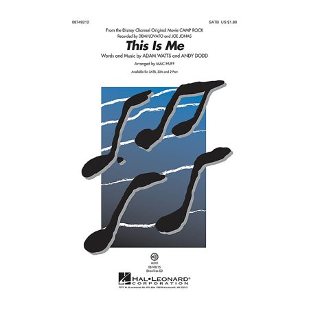 Hal Leonard This Is Me (from Camp Rock) 2-Part by Demi Lovato Arranged by Mac - Demi Lovato Halloween Costumes