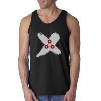 Trendy USA 683 - Men's Tank-Top Fidget Spinner X Marks The Spot XL Sapphire