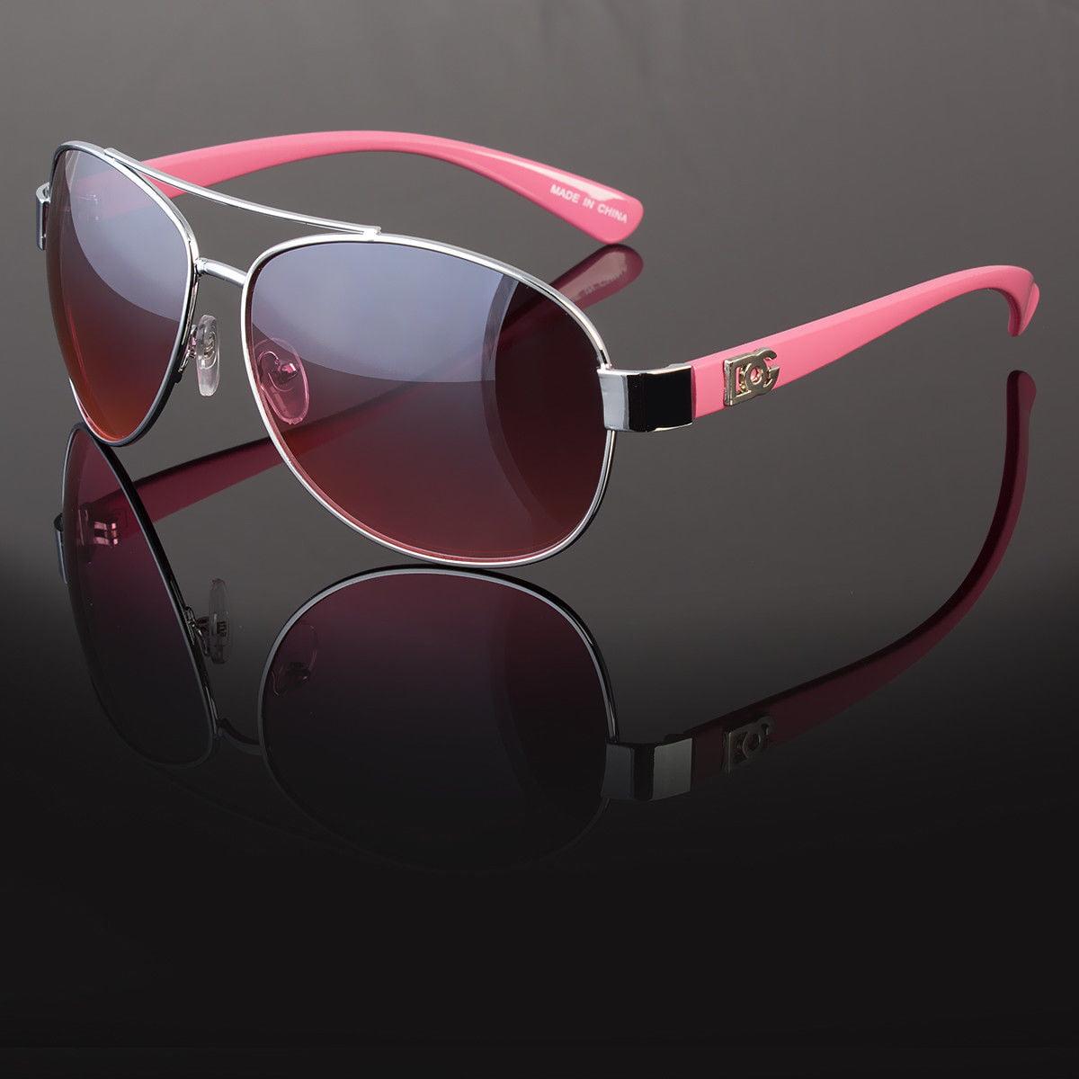 New DG Eyewear Mens Sunglasses Shades Designer Camo Gold Pilot Wrap Turbo Large