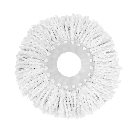 Casabella Spin Cycle™ Mop Refill, Microfiber Material, Multi Floor Cleaner, Machine Washable, White