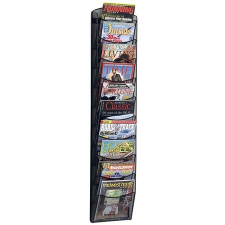 Safco  Onyx Mesh Ten-Pocket Magazine Rack