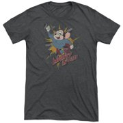 Mighty Mouse Break Through Mens Tri-Blend Short Sleeve Shirt