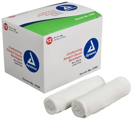 (Non-Sterile Conforming Stretch Gauze Bandages by Dynarex 4