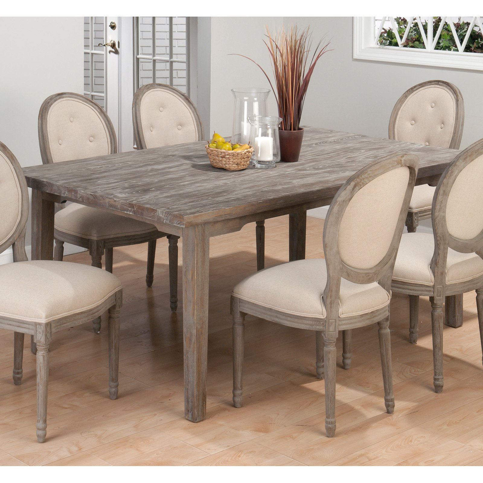 & Jofran Booth Bay Rectangle Leg Table - Burnt Grey - Walmart.com