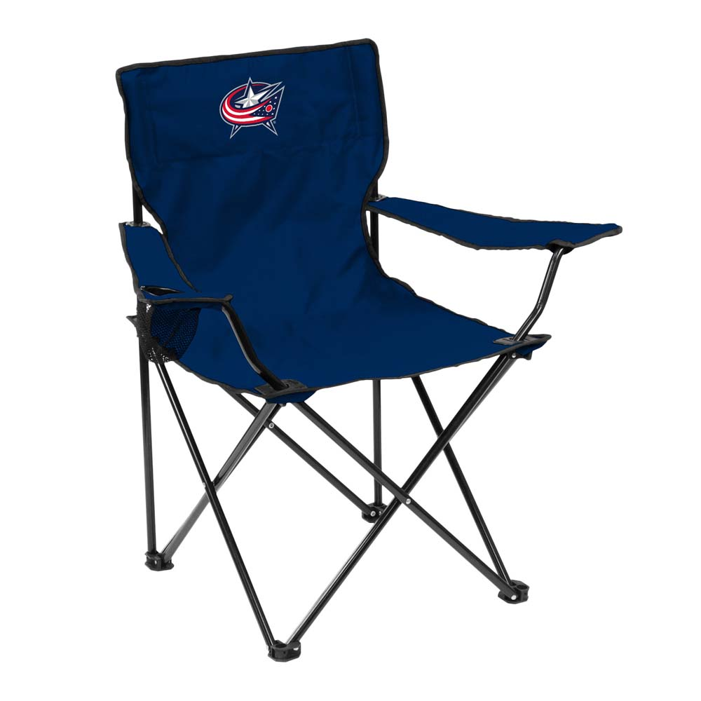 Columbus Blue Jackets Adult Quad Folding Logo Chair