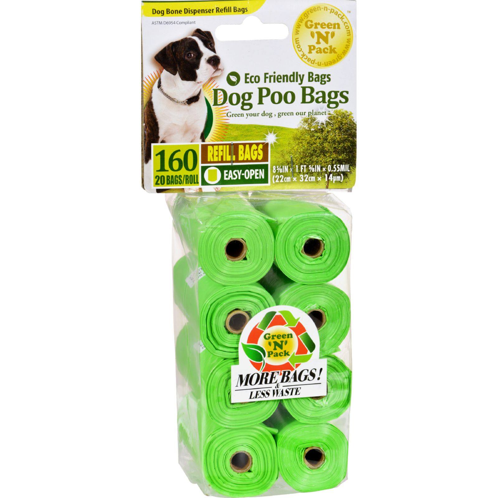Eco-Friendly Bags Dog Poo Bags Refill - 160 Pack