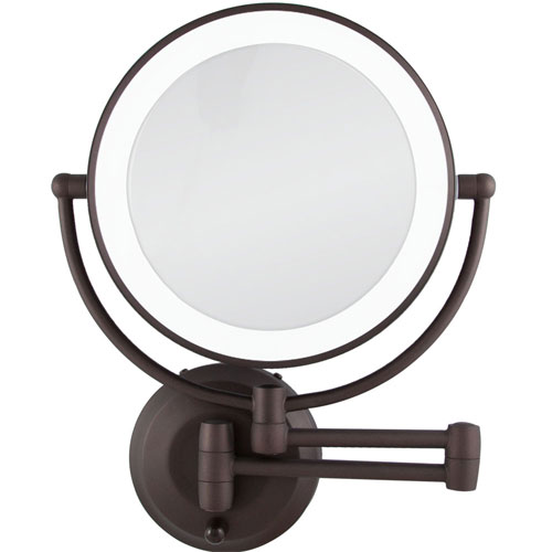 Wall Mounted Makeup Mirror With Light zadro ledw810 led lighted 10x-1x round wall mounted makeup mirror