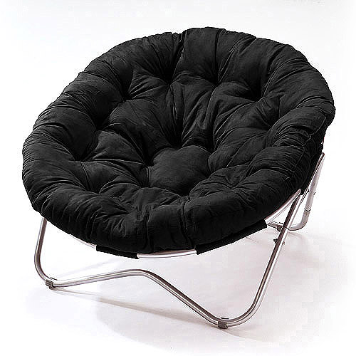 Oversized Oval Chair, Black