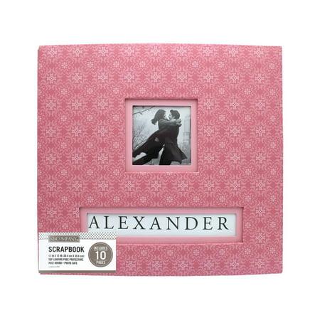 K&Co Scrapbook 12x12 Frame A Name Pink - 12x12 Scrapbook