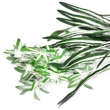 Emulational plante verte petit chlorophytum fleurs artificielles plante verte herbe verte mur aménagement paysager décoration artisanat pour la décoration intérieure - image 1 de 9