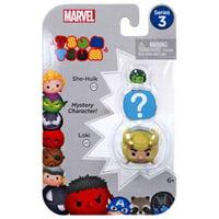 Marvel Tsum Tsum Series 3 She-Hulk & Loki Mini Figures, 3 Pack