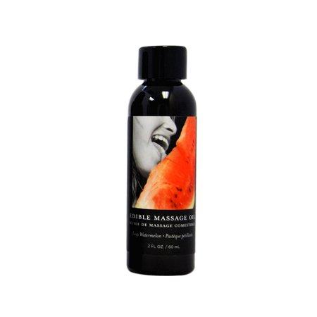 Earthly Body Edible Massage Oil - Watermelon - 2 oz