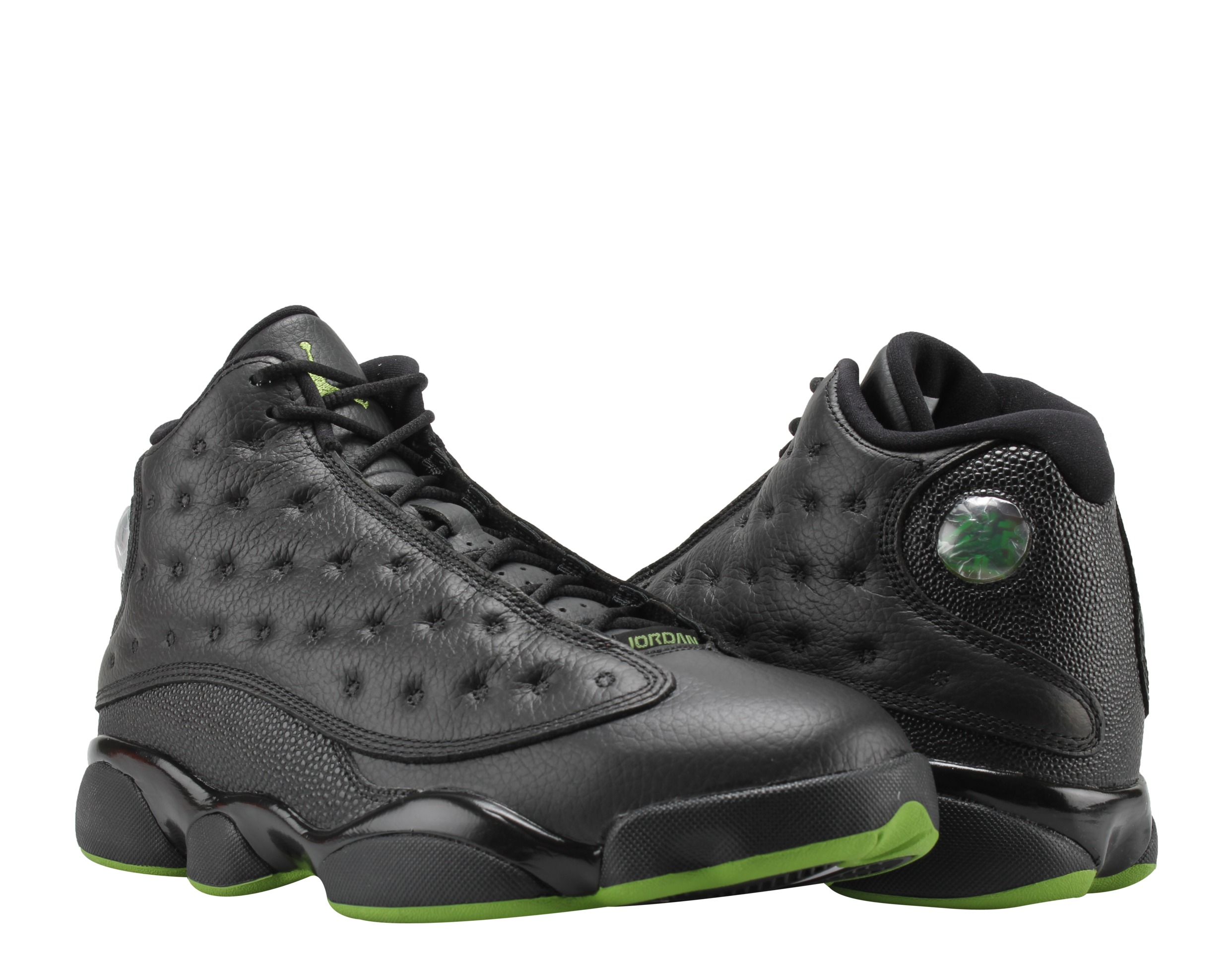 best sneakers 9b387 1147e ... authentic nike air jordan 13 retro black altitude green mens basketball  shoes 414571 042 2bb23 f8800