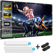 Projector Screen, Keenstone 120 inch 16:9 HD Foldable Anti-Crease Portable Projector Movies Screen