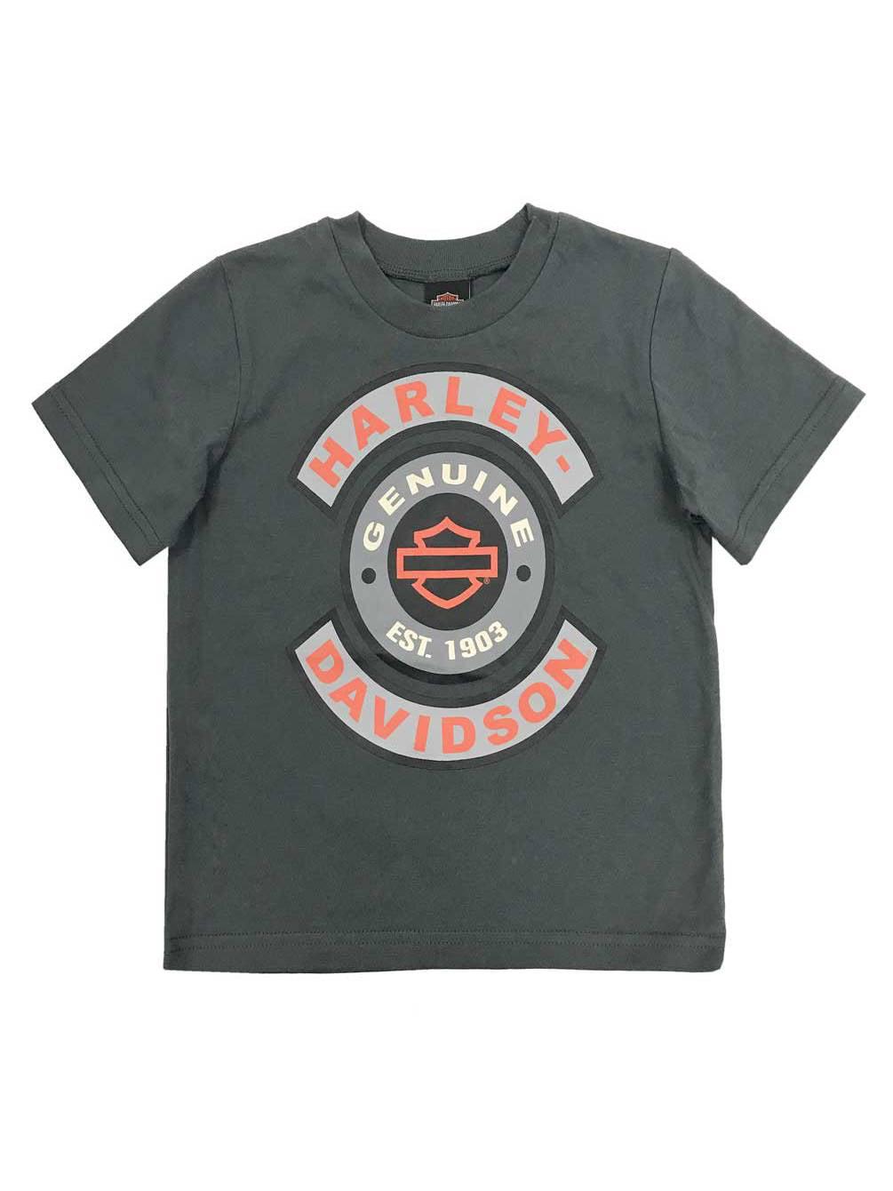 Harley-Davidson Little Boys/' Frayed Denim Blow-Out Toddler Shirt Set 1071705