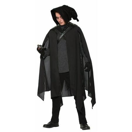 Adult's Mens Black Wizard Magician Cape Cloak Costume - Black Cloaks