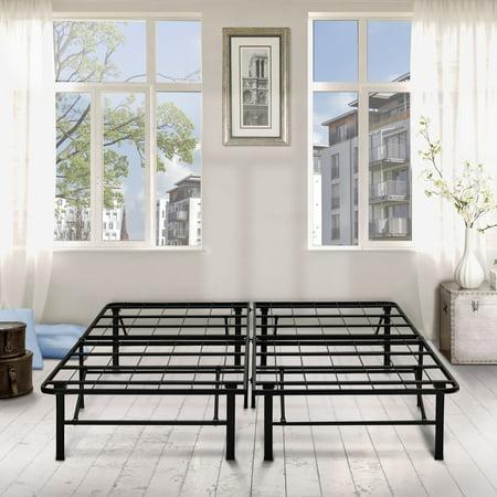 premier 14 high profile platform metal base foundation bed frame with under bed storage - Bed Frames Platform