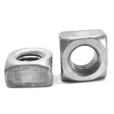 "5/16""-18 Coarse Thread Grade 2 Regular Square Nut Low Carbon Steel Plain Finish Pk 1250"