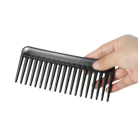 19 dents dent large peigne démêlant Hairbrush résistant à la chaleur Grande Scalp anti-statique Massage ABS coiffure Peigne Noir - image 3 of 4