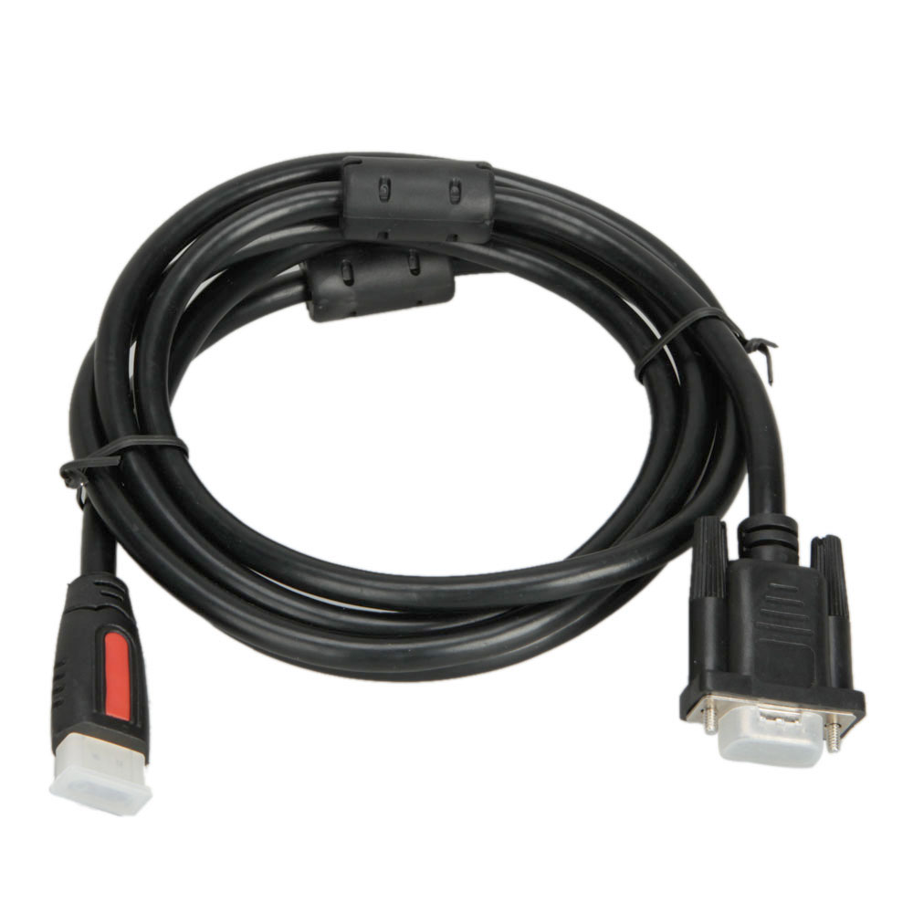 Zimtown 6FT 1.8M HDMI Gold Plated Male to VGA 15Pin HD-15 Male Cable PC Video Cable Cord