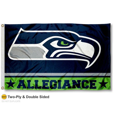 Seattle Seahawks Allegiance Two Sided Flag