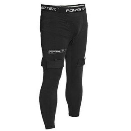 New V5.0 Junior Boys Compression Fit Hockey Pants w/ Cup &TabSocks S-XL, Junior S: 18-20 / Junior M: 20-22 / Junior L: 22-24 / Junior XL: 25-27 By PowerTek (Junior Hockey Cup)