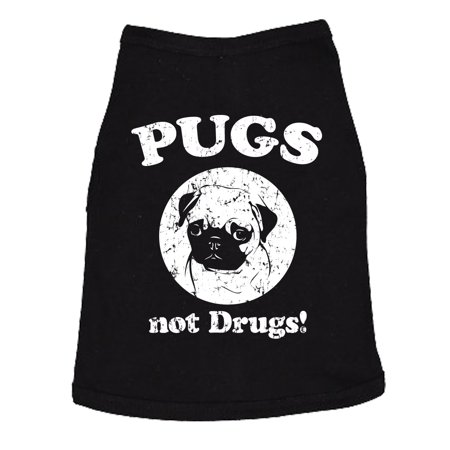 Dog Shirt Pugs Not Drugs Cute Clothes For Small Breed Jack Russell Terrier Tops