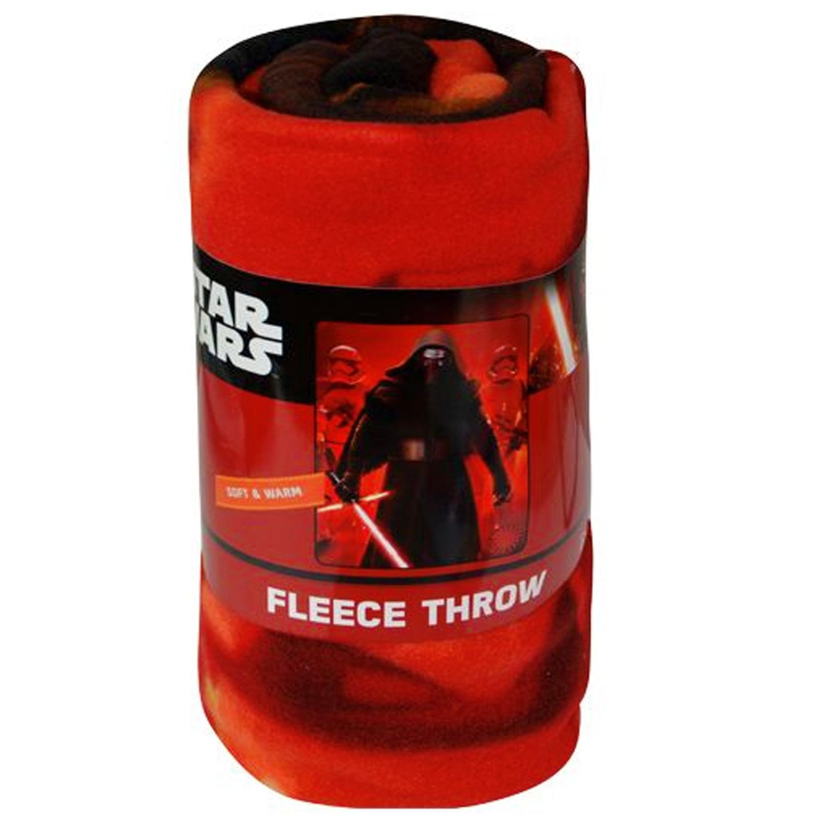"""Star Wars Kylo Ren Stormtroopers Fleece Blanket Throw 45"""" x 60"""" 100% Polyester"""