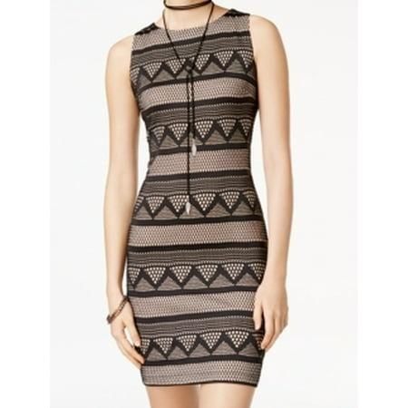 6b70b05825 Emerald Sundae - Emerald Sundae NEW Black Nude Zig-Zag Lace Small S Junior Sheath  Dress - Walmart.com