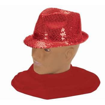 SEQUIN FEDORA-RED - Christmas Fedora