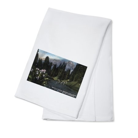 Washington - Rainier National Park, Shooting Star Flowers in Bloom (100% Cotton Kitchen (Blooming Star)