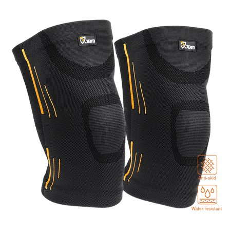 QF Knee Compression Sleeve 1 Pair Knee Support Brace for Women Men, Patella Knee Brace Support Sleeve for Running, Football, Basketball, Weightlifting, Powerlifting, Gym, Workout, (Best Knee Support For Running)
