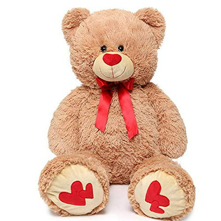 Baby Net For Stuffed Animals, Maogolan Giant Teddy Bear Large Stuffed Animals Plush Big Bear With Love Heart For Girlfriend Children Christmas Valentines Day 35 Inch Light Brown Walmart Canada