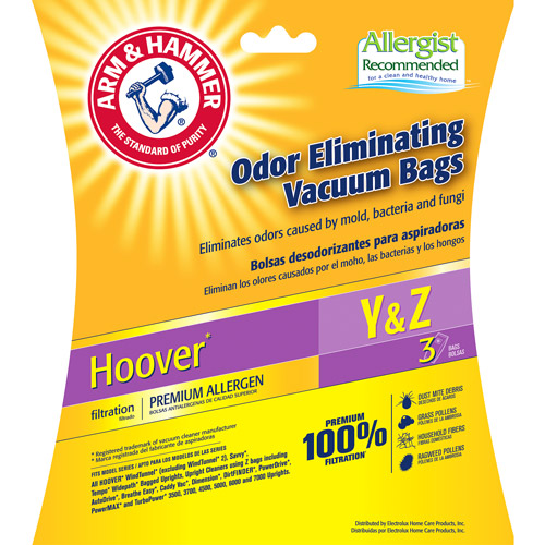 Arm & Hammer 9-Pack Odor Eliminating Vacuum Bags, Hoover Y ™ Premium Allergen