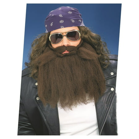 14 Inch Brown Beard And Moustache Halloween Costume Accessory - Male Halloween Makeup With Beard