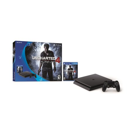 Sony PlayStation 4 (PS4) Slim 500GB Console Uncharted 4 Bundle
