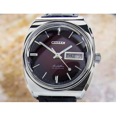 Citizen Manhattan Mens Made In Japan Vintage Manual Wind Rare 1970s Watch Dx36