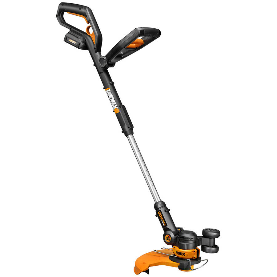 "Worx 12"" Cordless Grass Trimmer Edger, (2) 20V Li-ion, 5hr Charger, 2 Wheel Positions by Positec Technology"