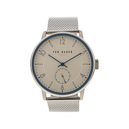 Ted Baker Men's Owen TE50278001 Silver Stainless-Steel Japanese Quartz Fashion Watch ()