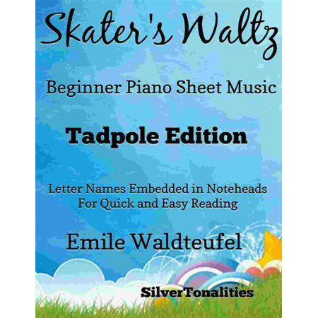 The Skater's Waltz Easiest Beginner Piano Sheet Music - eBook (This Is Halloween Sheet Music Piano)