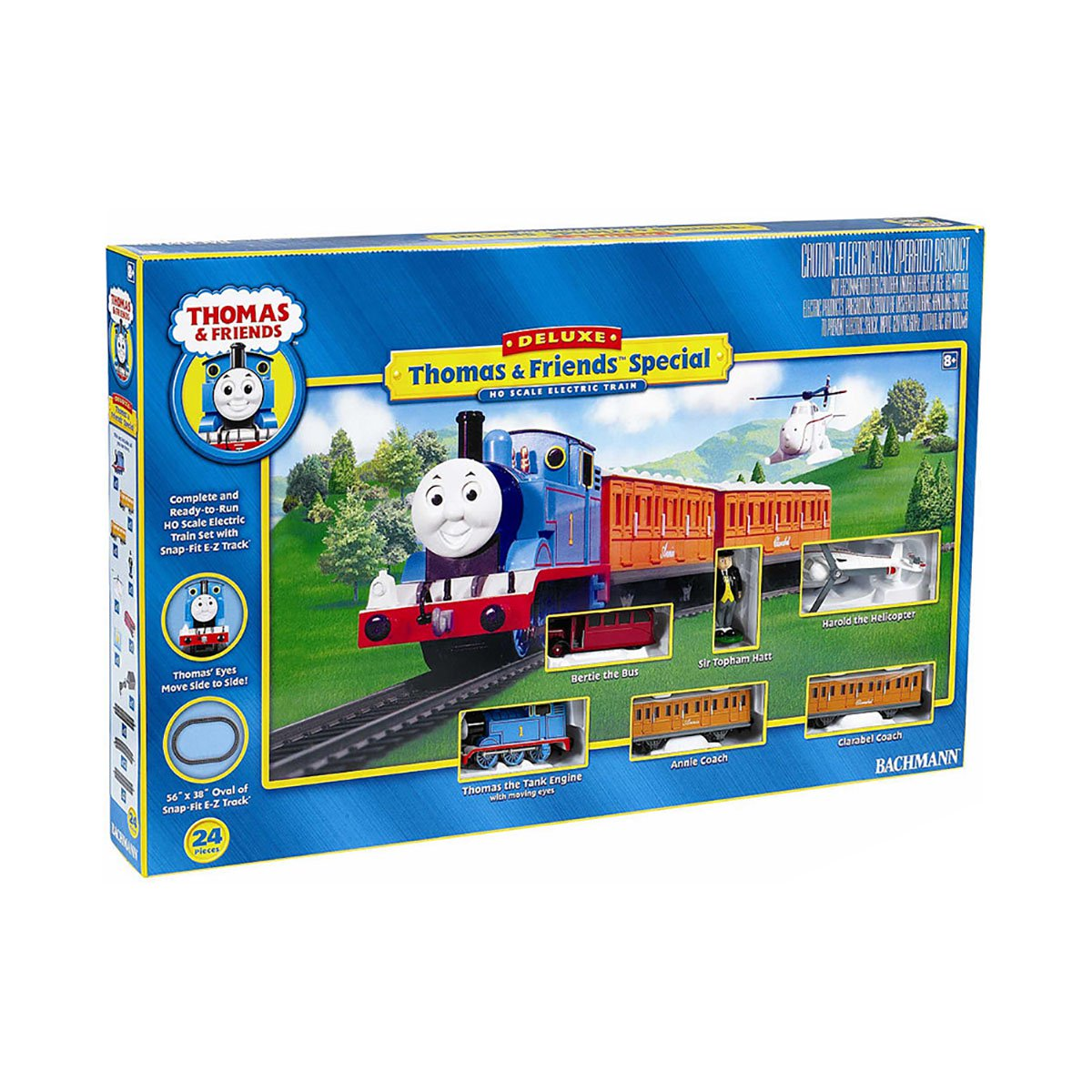 Bachmann Trains HO Scale Deluxe Thomas with Annie & Clarabel Ready To Run Electric Train Set by Bachmann Trains
