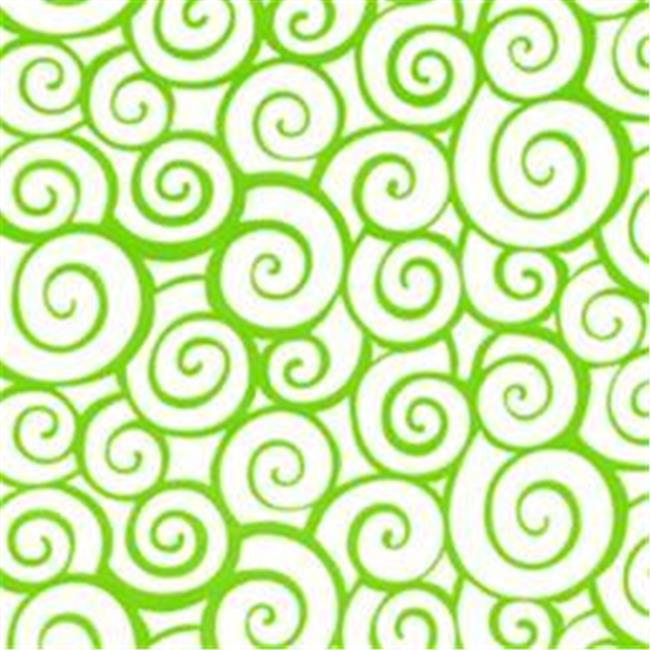 Cindus 78718 30 in. x 5 ft. Cellophane Wrap Roll - Swirl Lime Green