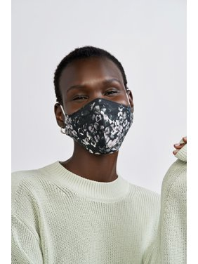 iMPOWER by Prabal Gurung Reversible Face Mask, Black Animal Print