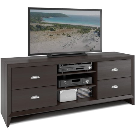 CorLiving Kansas Espresso TV Bench for TVs up to 60″