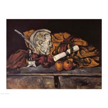 Still Life of the Artists Accessories 1872 Poster Print by Paul Cezanne