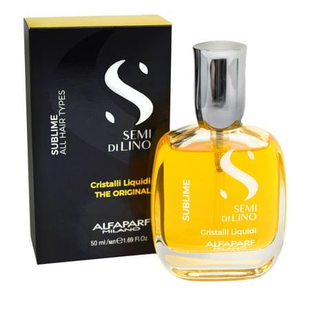 Alfaparf Semi Di Lino Diamond Cristalli Liquidi Illuminating Serum, 1.69 fl (Di Lino Illuminating Smoothing Cream)