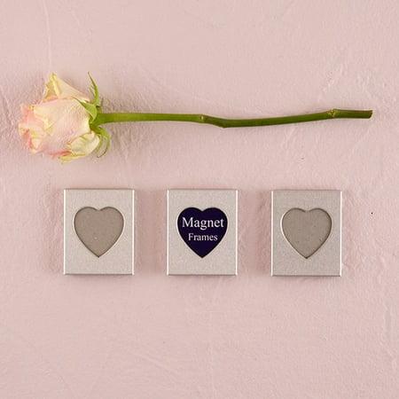 Mini Magnet Back Heart Photo Frame Wedding Favors Set of 3