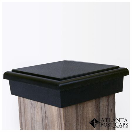 4x4 Black Slim Profile Post Cap (3.5